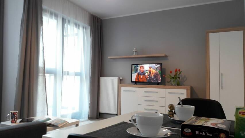 Suite apartament 2osob, ul. Wolska-Skierniewicka