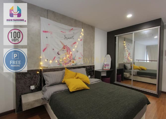 ❤️The Unicorn Duplex connected Mall WiFi Carpark❤️