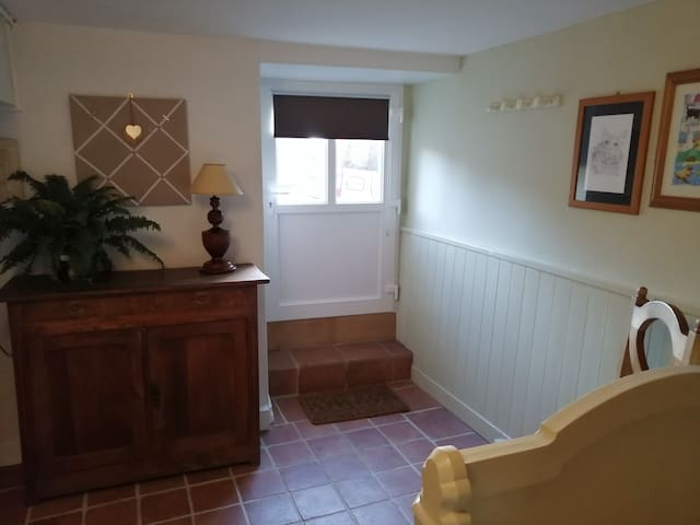 Newly decorated downstairs bedroom space with new door