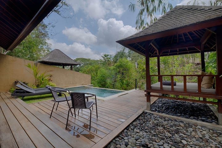 One bedroom pool villa with jungle view
