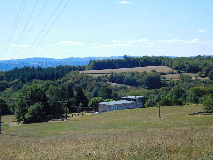 Maison de vacances en pleine campagne.