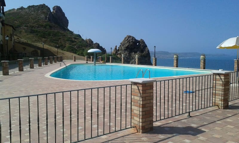 Swimming pool Casa Mario at the villaggio Tanca Piras, Nebida, Sardegna.