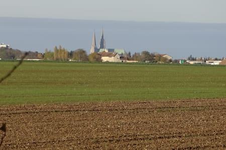 Chambre calme dans maison aux abords de Chartres - Nogent-le-Phaye