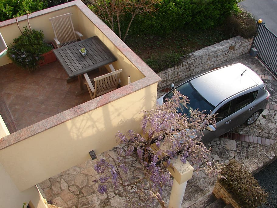 The balcony from above