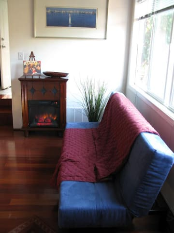 Sofa-bed and Chimney