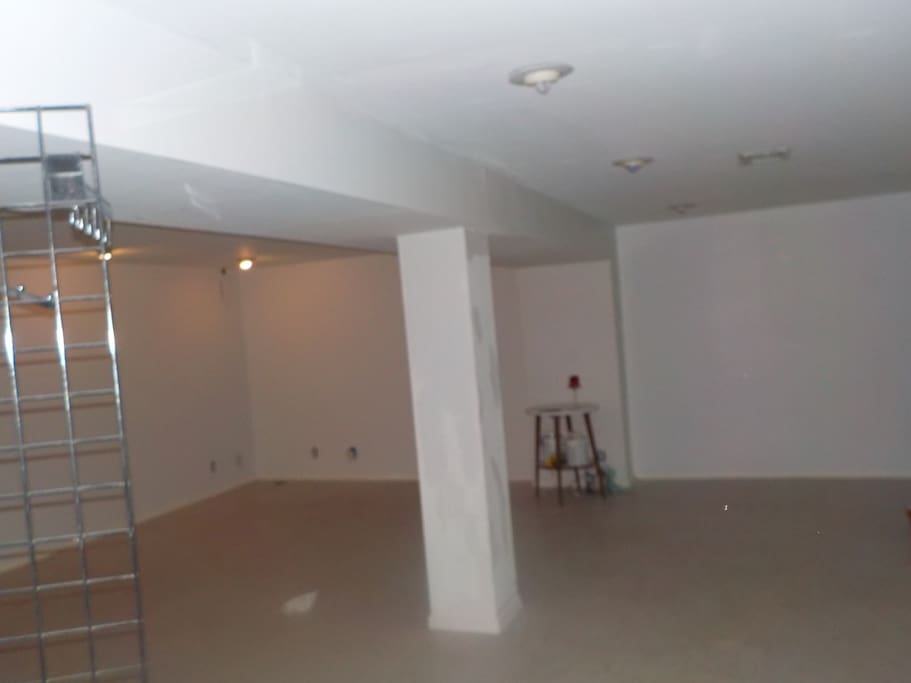 Basement space area of rental