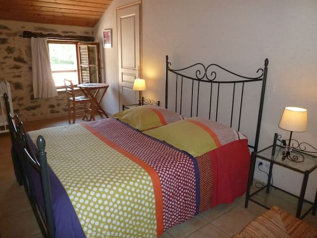 Double room with privvate shower and garden view