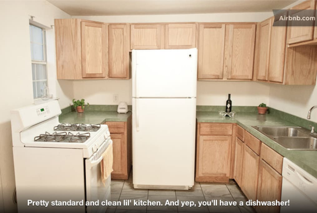 kitchen - fully equipped with cooking supplies, coffee, tea, etc.