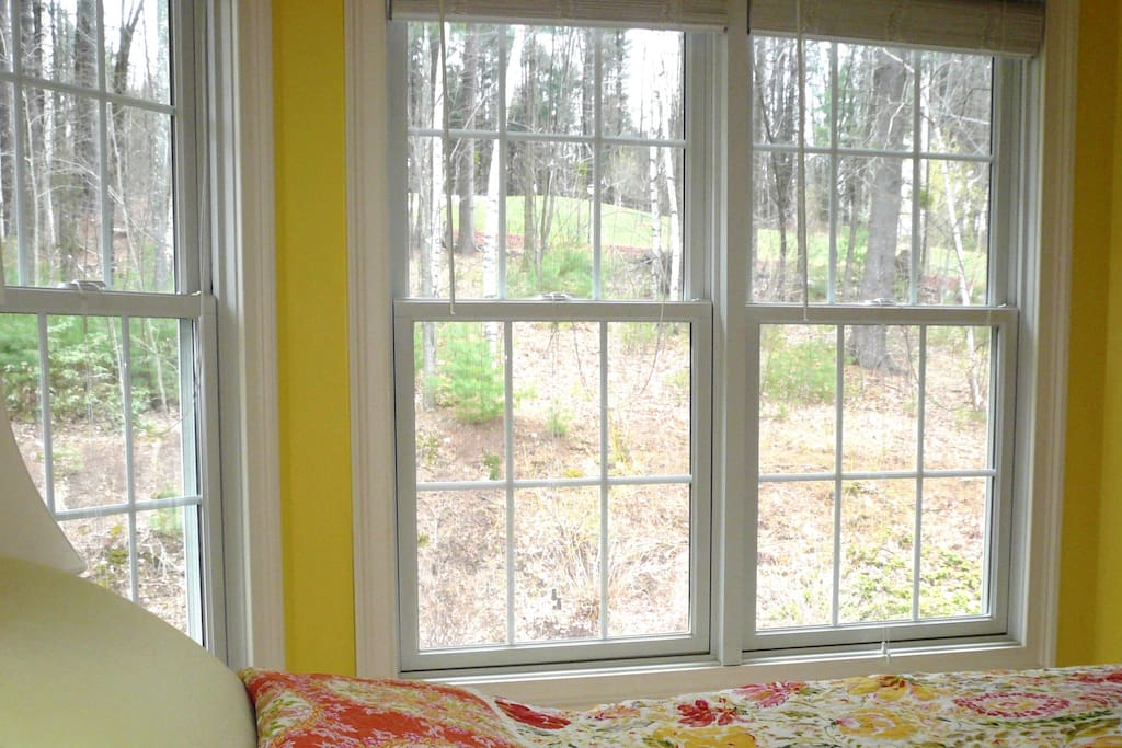 Bay windows offer plenty of day light and fresh air