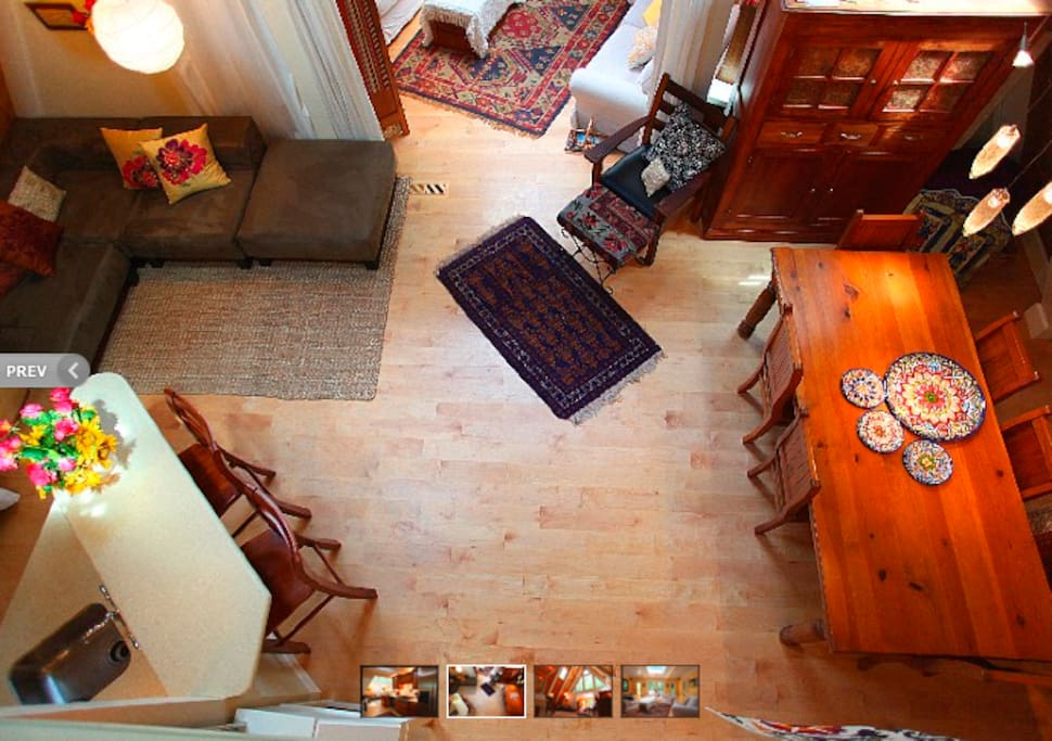 View of great room from upstairs.