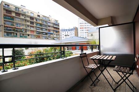 QUIET APT WITH BALCONY - ALÉSIA - Paris - Lägenhet