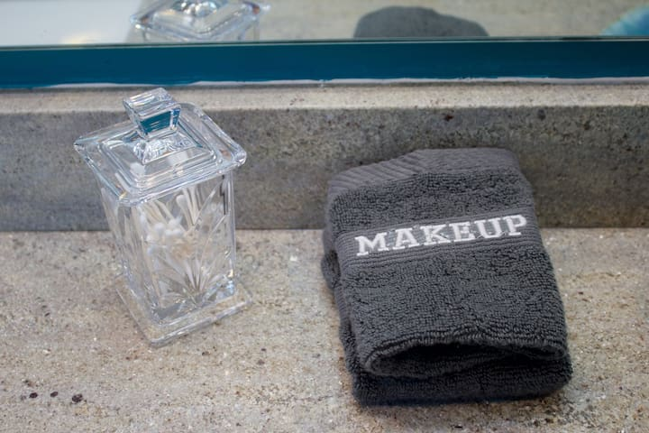 Special cloths to remover you makeup so you don't have to worry about ruining the towels.