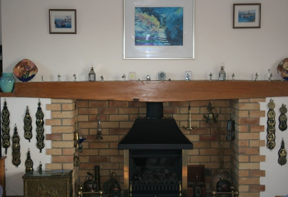 The inglenook fireplace that brings warmth to the room