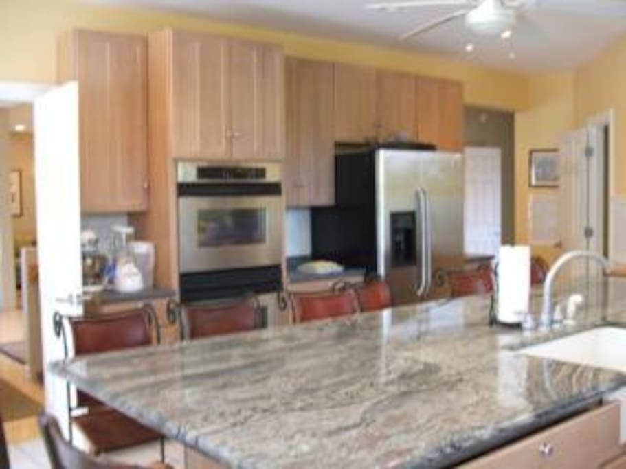 The spacious kitchen, perfect for making large holiday meals