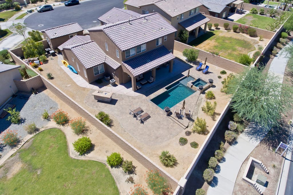 Large Backyard with pool and spa