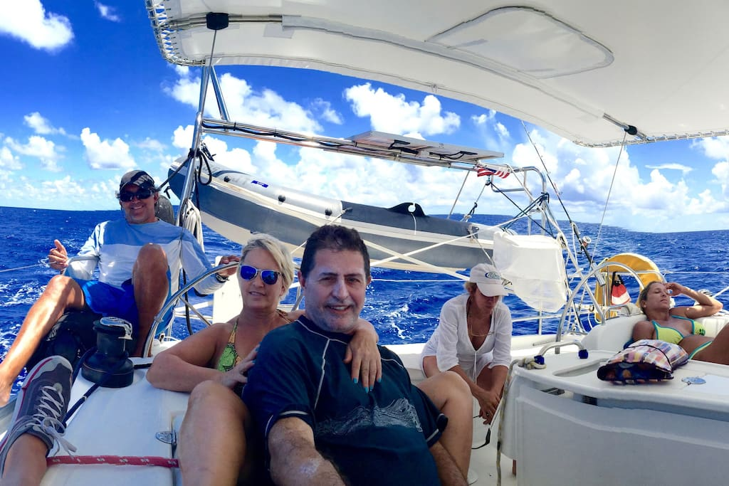As part of our day cruises we offer the following options: • Meals (Raw Food) prepared by our raw food specialist • Wellness coaching • Sailing lessons • Bahamas Island hopping (deserted beaches) • Snorkeling • Diving • Fishing • Swimming with wild dolphins