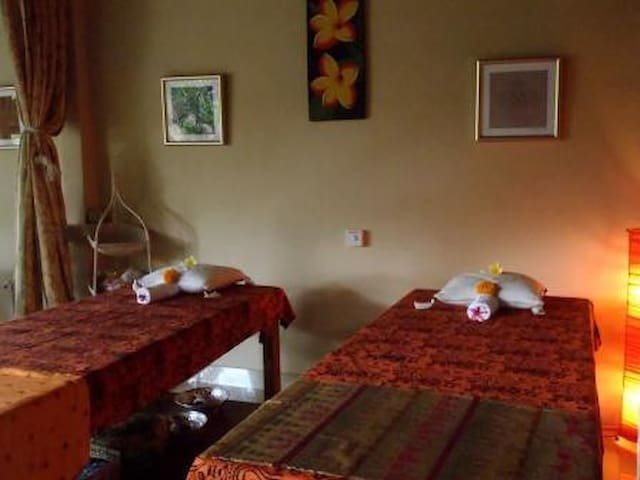 Our on-site spa....offers massages, reiki treatments, flower baths and manicures or pedicures.
