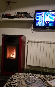 Loft con estufa pellets.