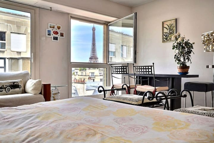 Luxury appart direct Eiffel Tower view very secure