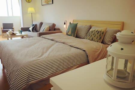 【欢悦sweet】近大悦城人民广场外滩,配套丰富极致宽敞大一房 - Shanghai - Appartement