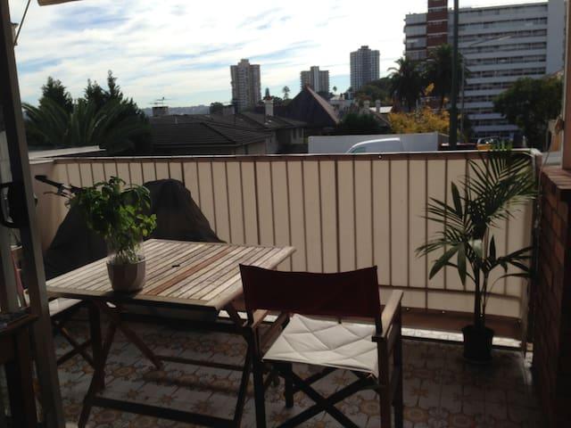 Outdoor balcony - always sunny!