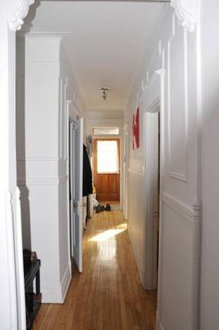 Bright and lit hallway and front entrance!