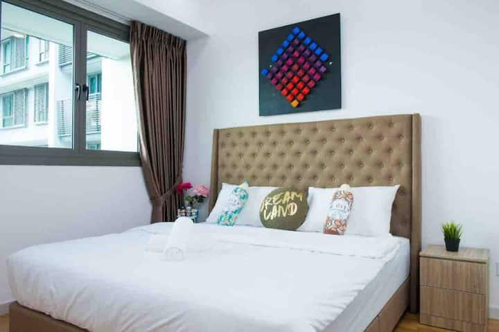 Iskandar Residence (3pax) WIFI @ JB City Homestay