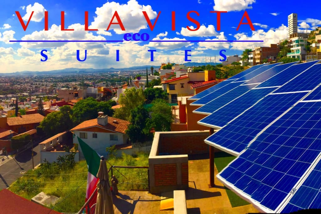 VILLA VISTA eco SUITES with electric Solar Panels and solar water heating!