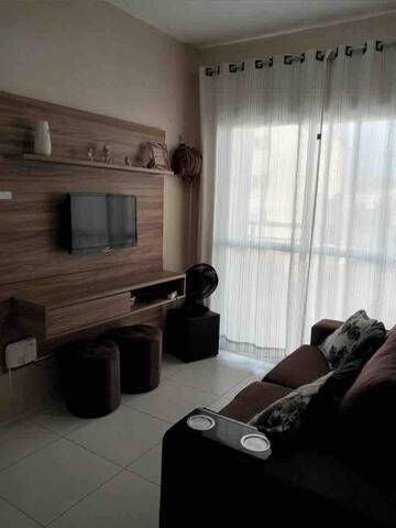 Sala de Tv com sofá cama