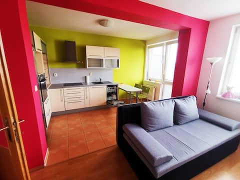 Slnečný apartmán s balkónom