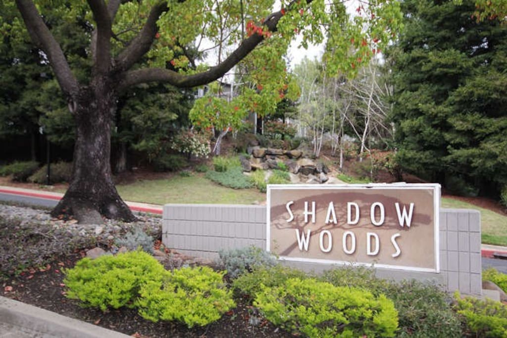 Main gate to Shadow Woods complex