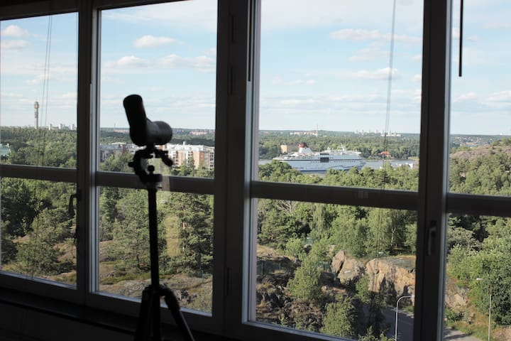 150 m2 with incredible view over Stockholm inlet - Stockholm - Leilighet