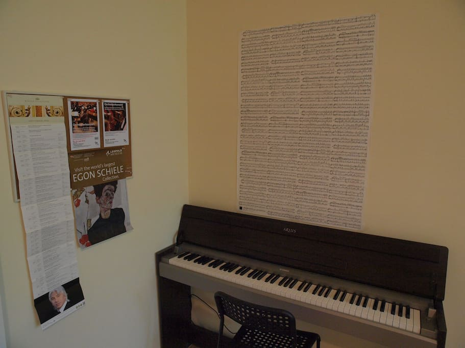 An E-Piano in your room that you can play 24 hours a day!