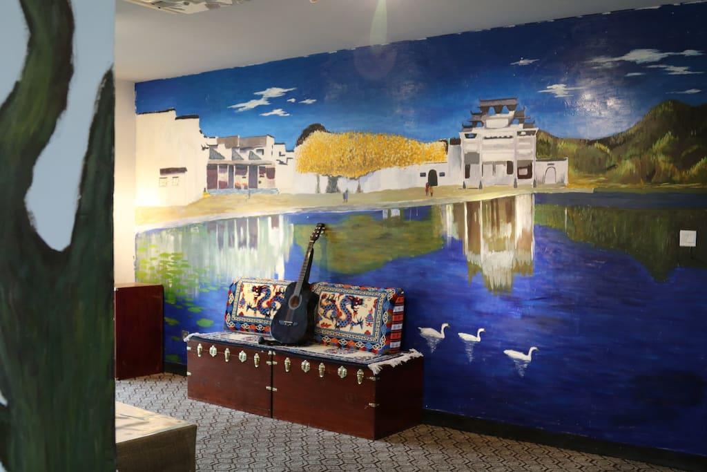具有浓郁的文化特色的背景墙