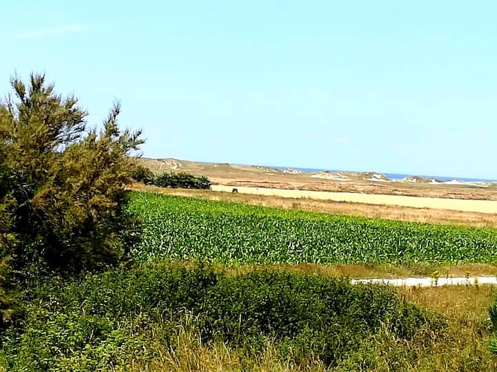 3. Ty mervent, vue mer  (500m), dunes et lande