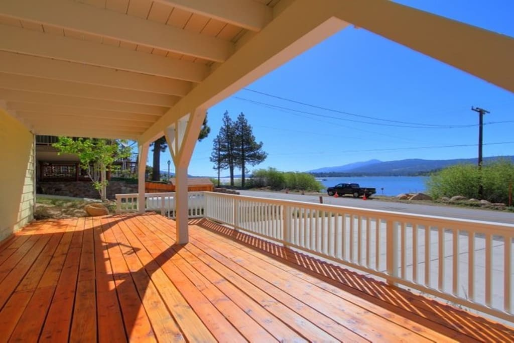 Spacious Downstairs Deck with Lake View