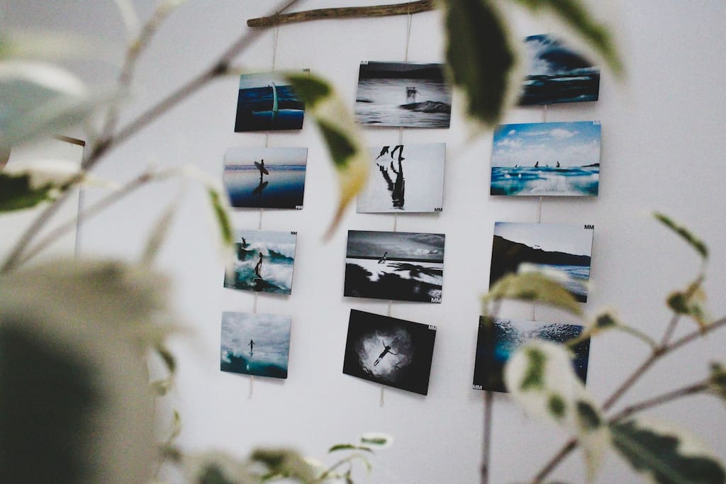 Ocean and surf inspired decor