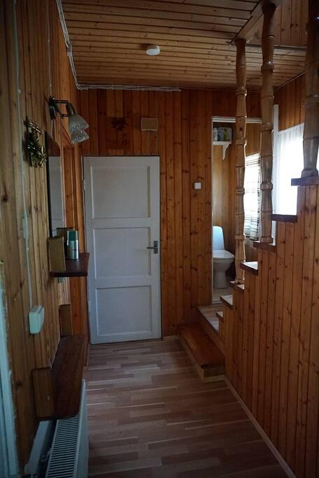 Way to the second floor+ toilet