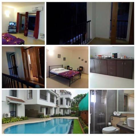 Cosy studio apartment in Goa (North), siolim