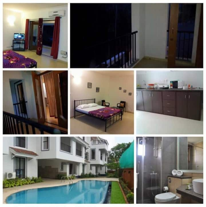 Cosy studio apartment in Goa (North), siolim
