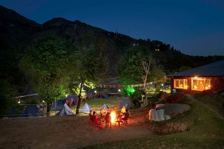 Riverside Tree house at Triund Camps