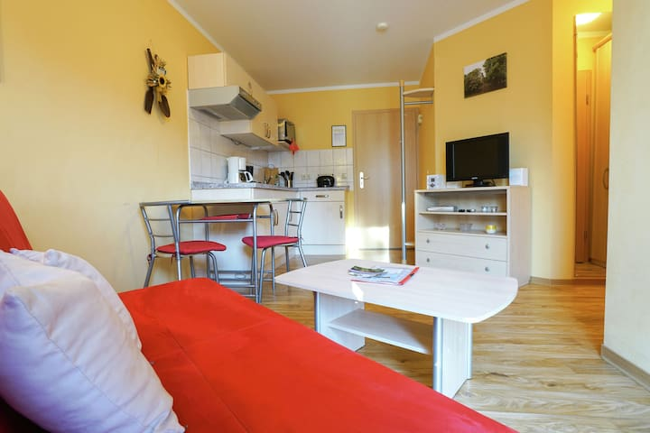 A modern furnished holiday home in a lovely area.