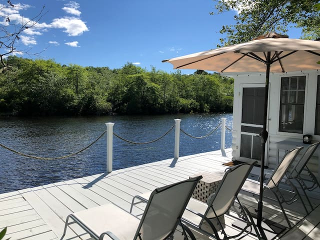 Updated Historic Waterfront Retreat with Dock