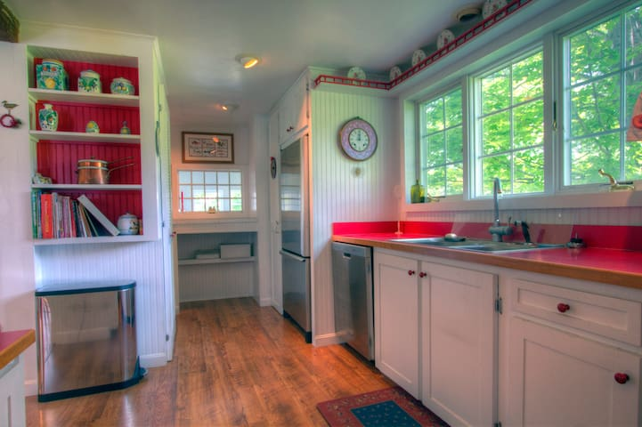 Fully stocked country kitchen