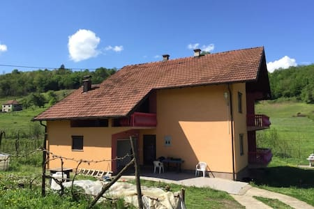 Spacious room with great view in Potocari