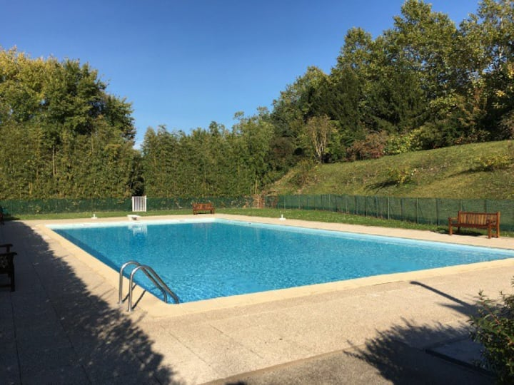 Grand Genève, appt gde terrasse, piscine&tennis