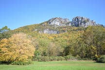 Seneca Rocks (20 miles away)