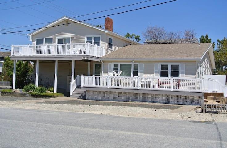 Spacious ocean block beach house steps from beach!