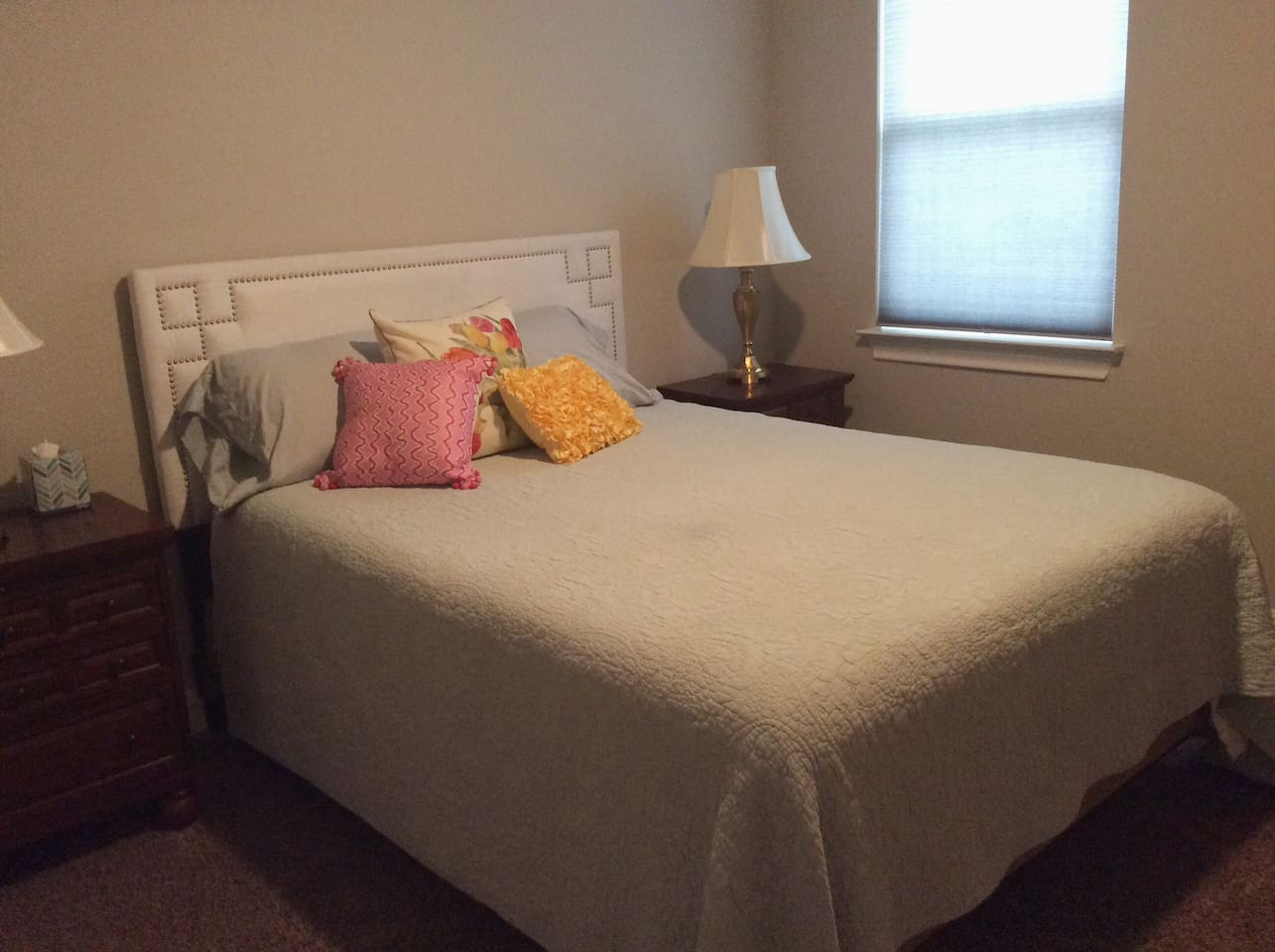 Queen size bed with new iComfort mattress.