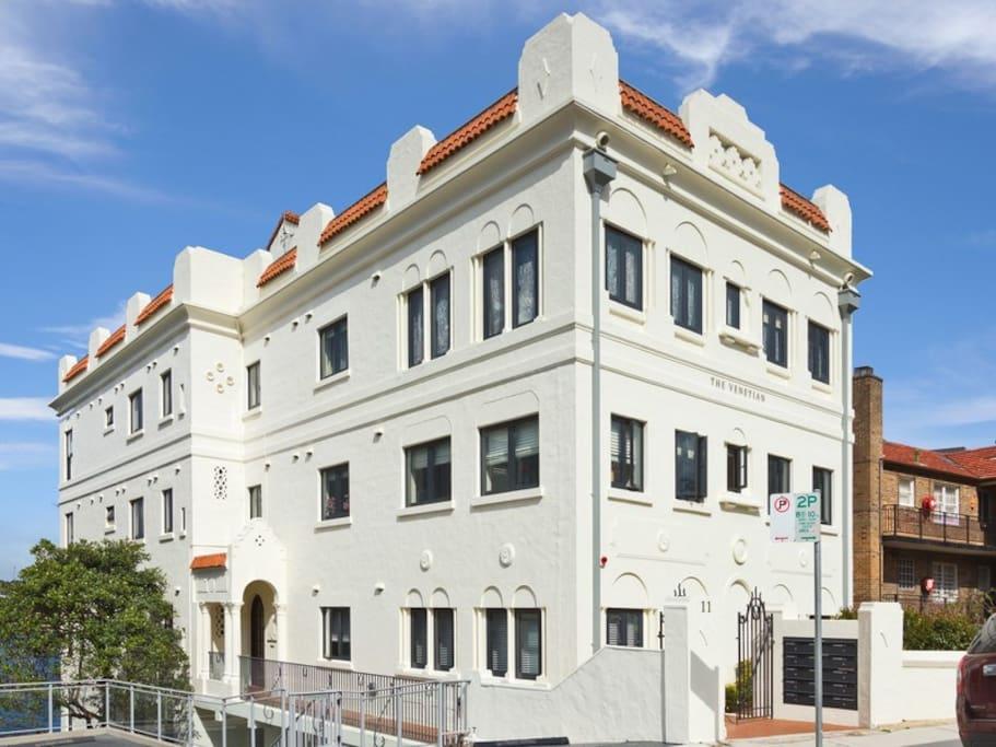 The Venetian - Elegant Art Deco Building